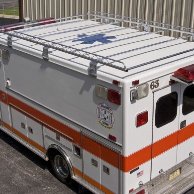 Ambulance with ladder