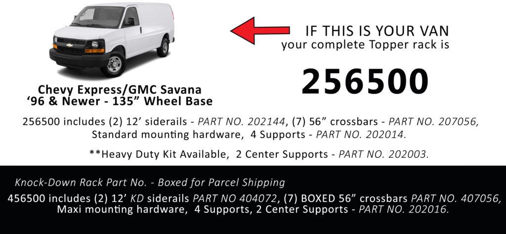 Chevy Express/GMC Savana '96 & Newer - 135