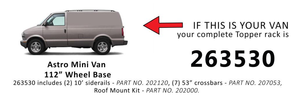 Van Rack Astro Mini Van Topper Manufacturing 263530
