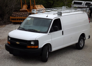 Topper Standard Rack with Conduit Carriers for Standard Van