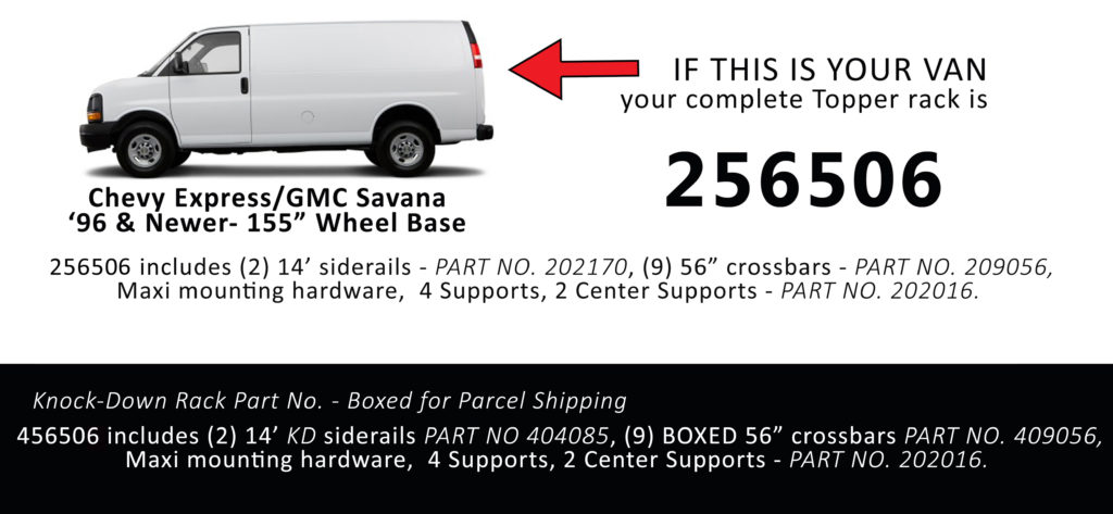 Chevy Express/GMC Savana '96 & Newer - 155